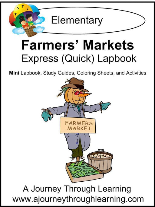 Farmers Market Express Lapbook - A Journey Through Learning Lapbooks