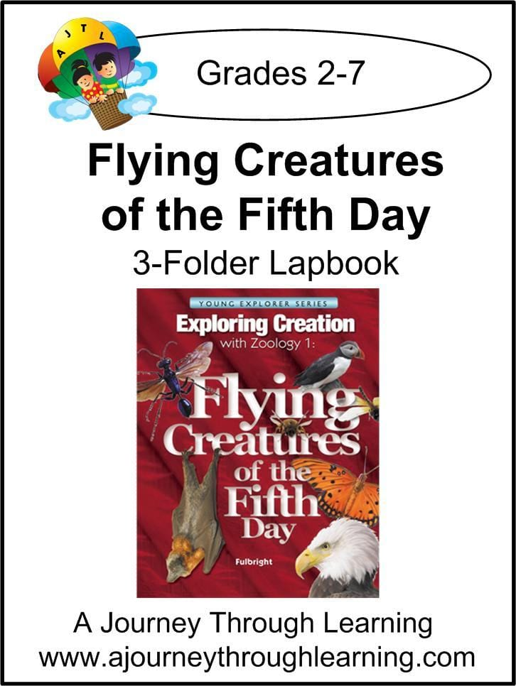Exploring Creation with Flying Creatures by  Apologia/Jeannie Fulbright 3 Folder Lapbook- Color - A Journey Through Learning Lapbooks