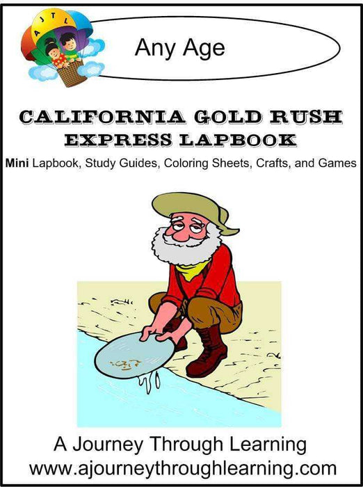 California Gold Rush Express Lapbook - A Journey Through Learning Lapbooks