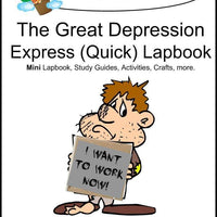 Great Depression Express Lapbook - A Journey Through Learning Lapbooks