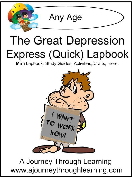 Great Depression Express Lapbook | A Journey Through Learning Lapbooks