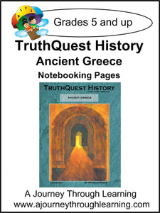 Ancient Greece Supplements Made for TruthQuest History - A Journey Through Learning Lapbooks