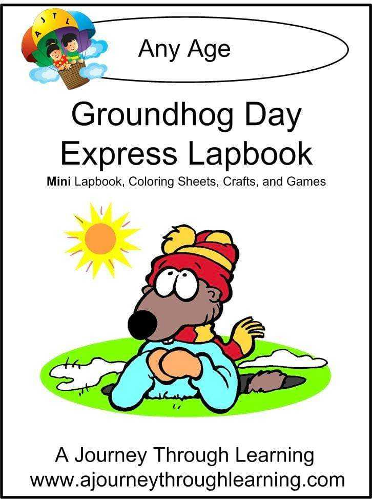 Groundhog Day Express Lapbook - A Journey Through Learning Lapbooks