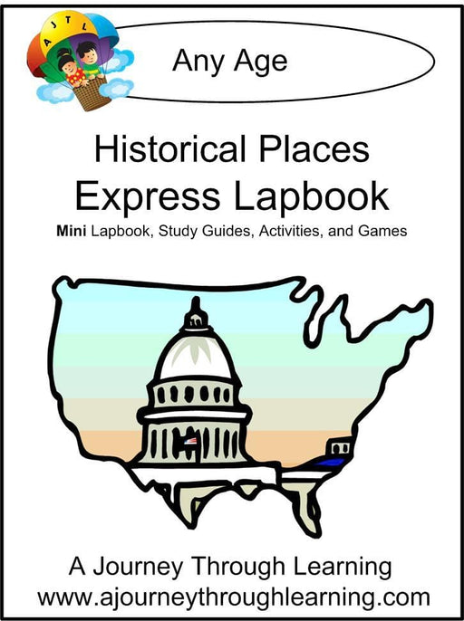 Historical Places Express Lapbook - A Journey Through Learning Lapbooks