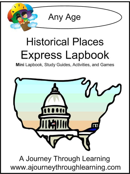 Historical Places Express Lapbook | A Journey Through Learning Lapbooks