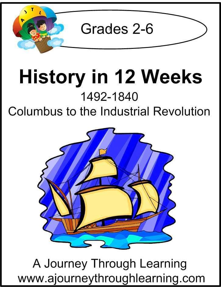 History in 12 Weeks Unit Study - A Journey Through Learning Lapbooks