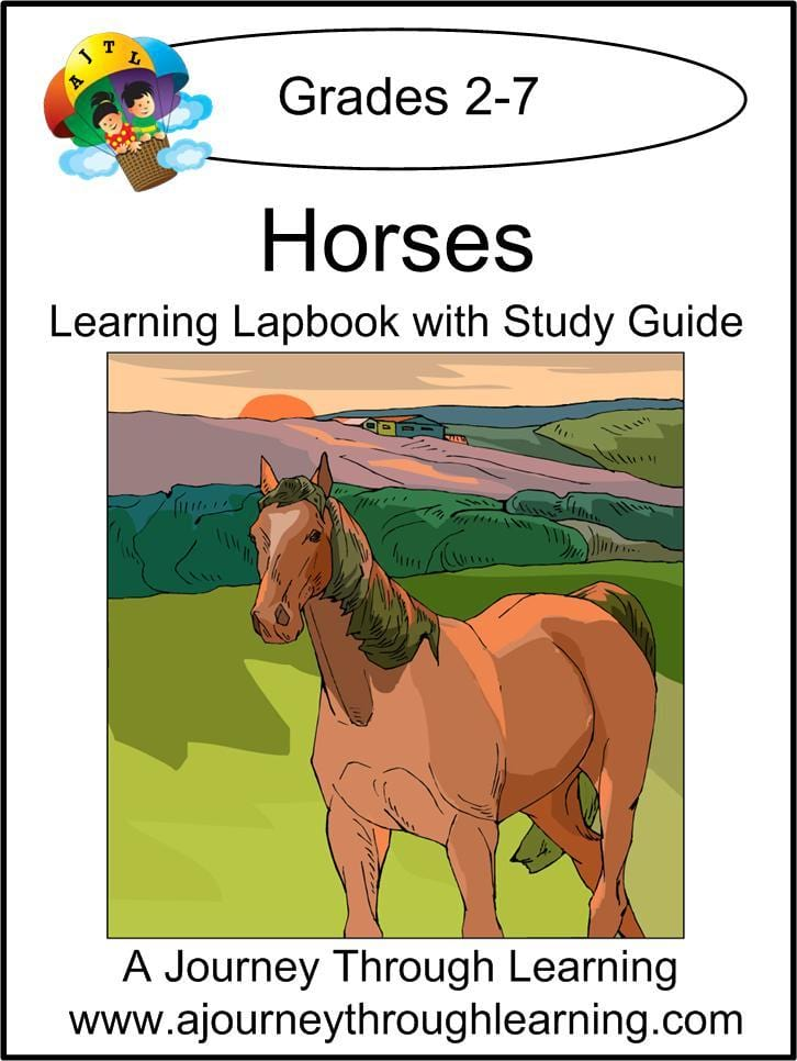 Horses Lapbook with Study Guide - A Journey Through Learning Lapbooks