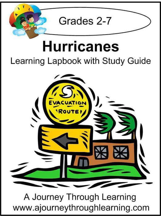 Hurricanes Lapbook with Study Guide - A Journey Through Learning Lapbooks