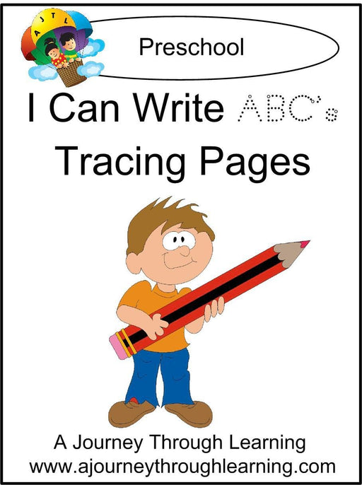 I Can Write ABCs Pages - A Journey Through Learning Lapbooks