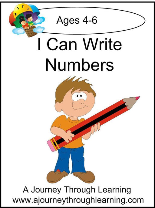 I Can Write Numbers Pages | A Journey Through Learning Lapbooks