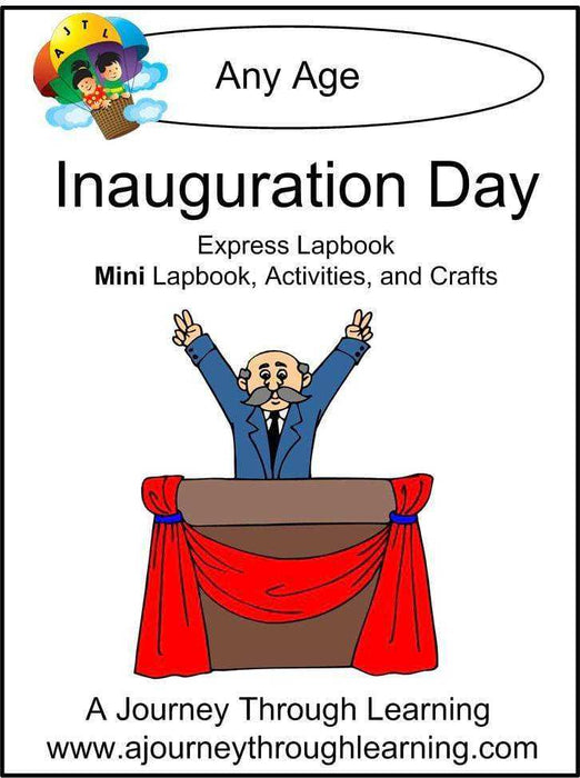Inauguration Day Express Lapbook - A Journey Through Learning Lapbooks
