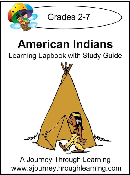 American Indians Lapbook with Study Guide - A Journey Through Learning Lapbooks