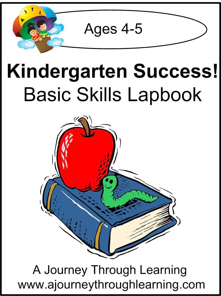 Kindergarten Success Basic Skills Lapbook - A Journey Through Learning Lapbooks