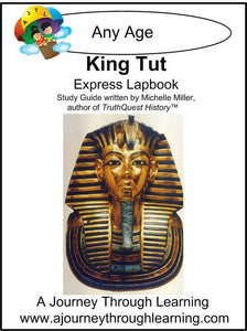 King Tut Express Lapbook - A Journey Through Learning Lapbooks