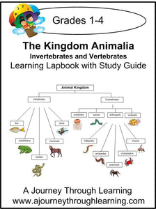Vertebrates and Invertebrates Lapbook with Study Guide - A Journey Through Learning Lapbooks