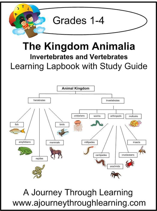 Vertebrates and Invertebrates Lapbook with Study Guide | A Journey Through Learning Lapbooks