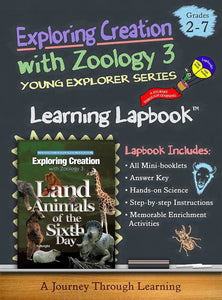 Land Animals of the Sixth Day -Jeannie Fulbright/Apologia-Zoology 3 Lapbook - A Journey Through Learning Lapbooks