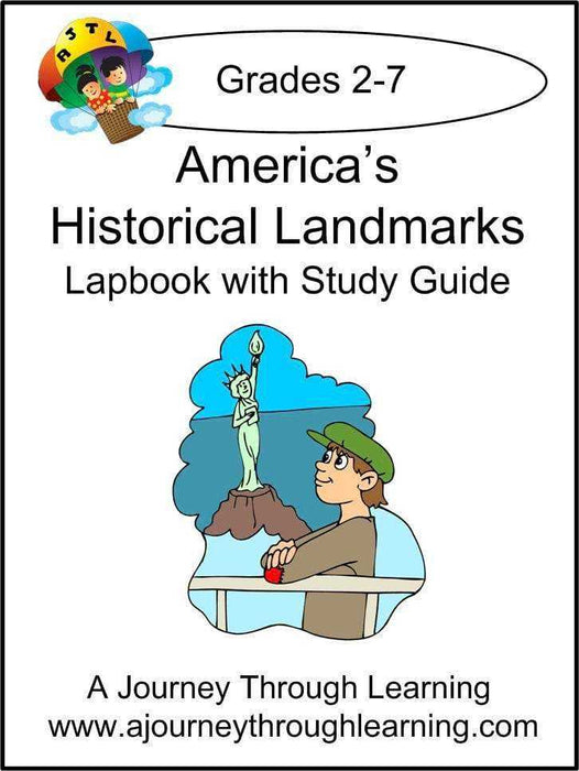 America's Historical Landmarks Lapbook with Study Guide - A Journey Through Learning Lapbooks