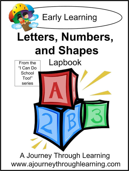 Letters, Numbers, and Shapes Lapbook - A Journey Through Learning Lapbooks