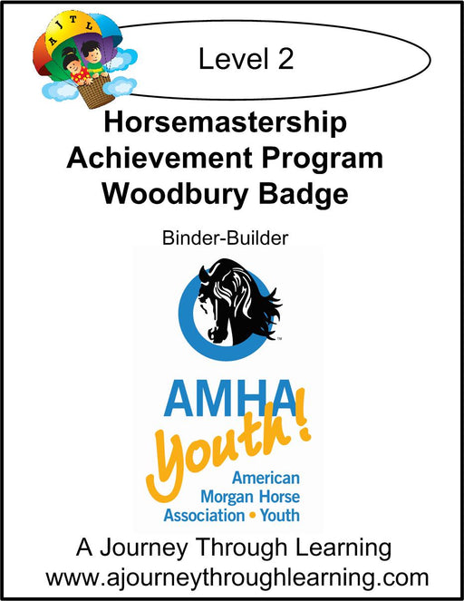 Horsemastership Achievement Program- Level 2 Woodbury Badge - A Journey Through Learning Lapbooks