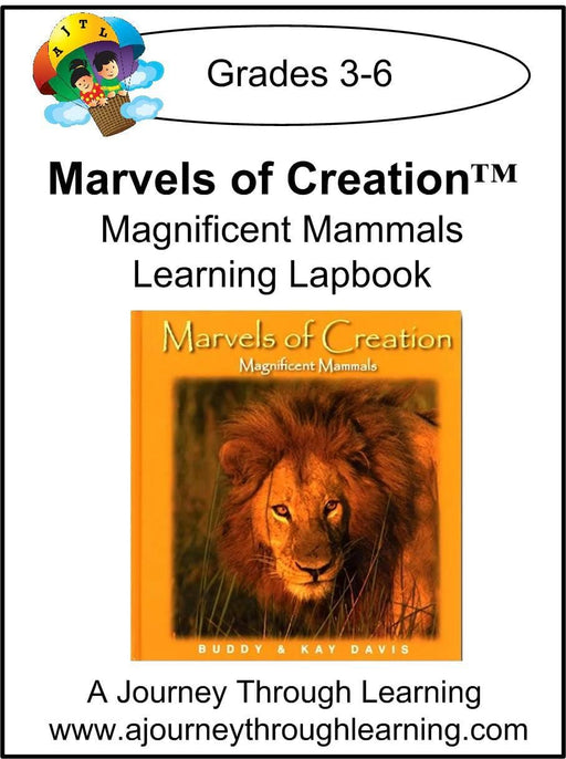 New Leaf Press- Marvels of Creation: Magnificent Mammals Lapbook - A Journey Through Learning Lapbooks