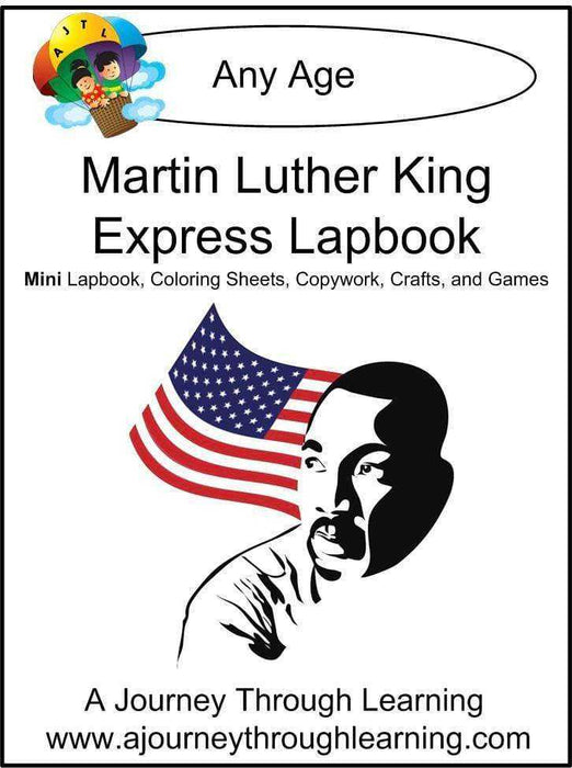Martin Luther King Express Lapbook - A Journey Through Learning Lapbooks