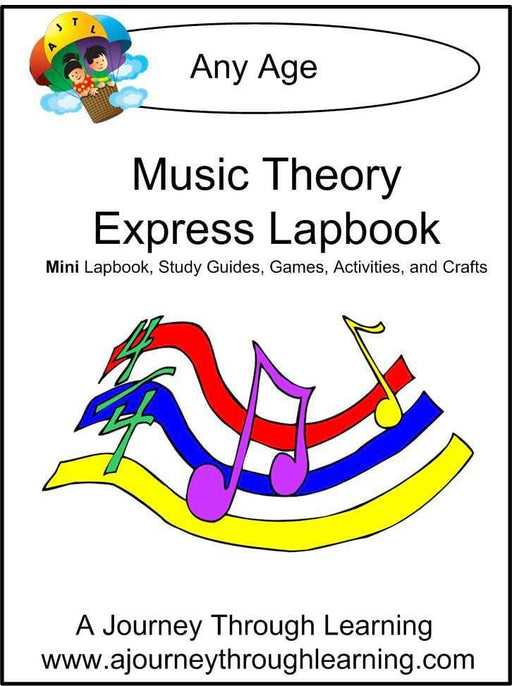 Music Theory Express Lapbook | A Journey Through Learning Lapbooks