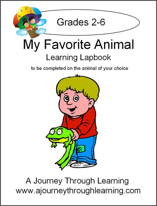 My Favorite Animal Lapbook - A Journey Through Learning Lapbooks