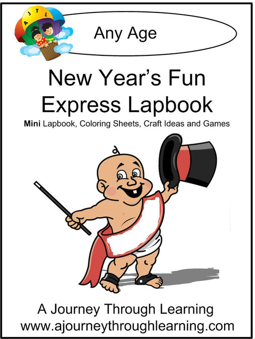 New Year's Fun Express Lapbook | A Journey Through Learning Lapbooks