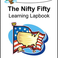 Nifty Fifty States (50 lapbooks) Lapbooks CD - A Journey Through Learning Lapbooks