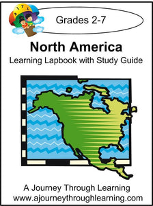 North America Lapbook with Study Guide - A Journey Through Learning Lapbooks