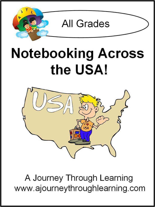 Notebooking Across the USA Notebooking Pages - A Journey Through Learning Lapbooks