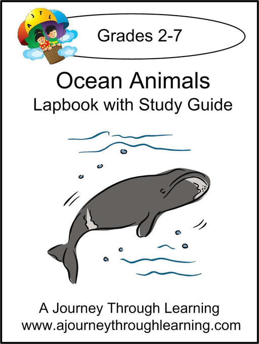 Ocean Animals Lapbook with Study Guide - A Journey Through Learning Lapbooks