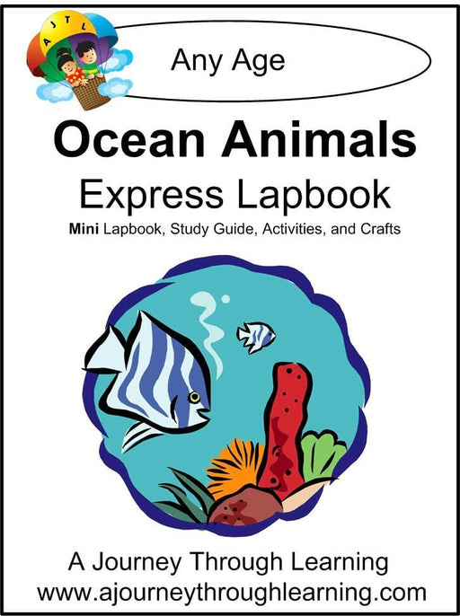 Ocean Animals Express Lapbook - A Journey Through Learning Lapbooks
