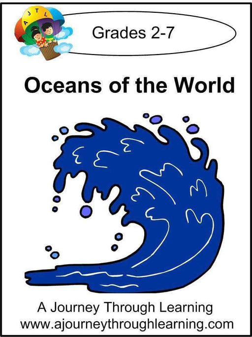 Oceans of the World Lapbook with Study Guide - A Journey Through Learning Lapbooks