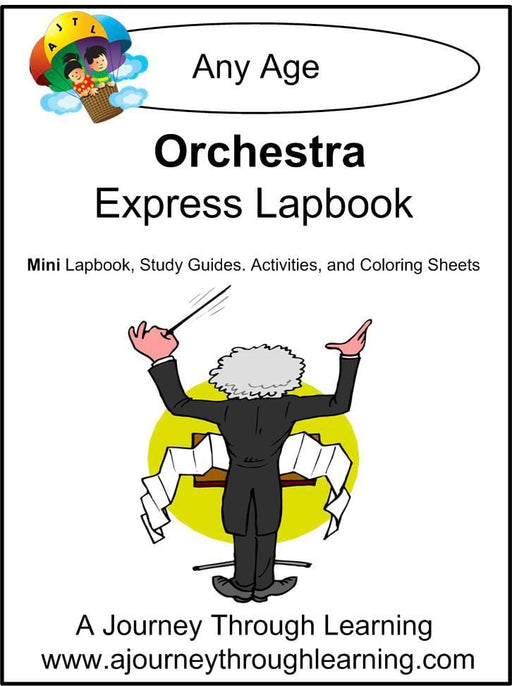 Orchestra Express Lapbook - A Journey Through Learning Lapbooks