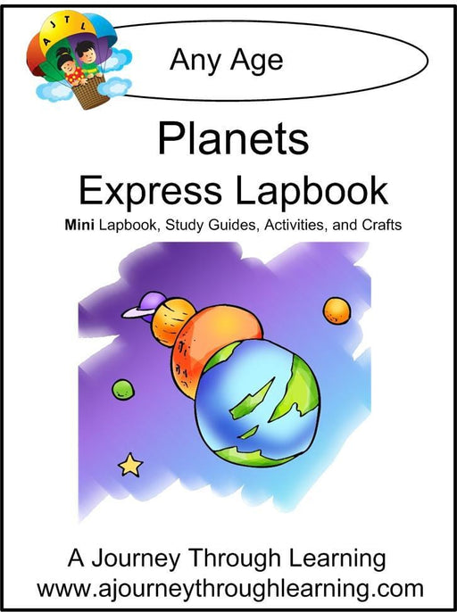 Planets Express Lapbook - A Journey Through Learning Lapbooks