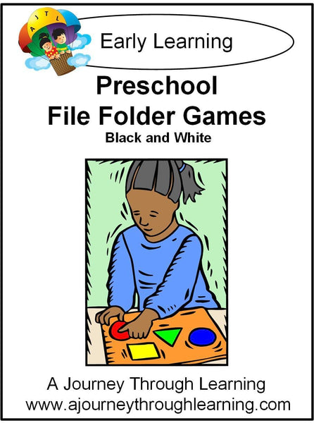 Preschool File Folder Games (Black & White Graphics) - A Journey Through Learning Lapbooks