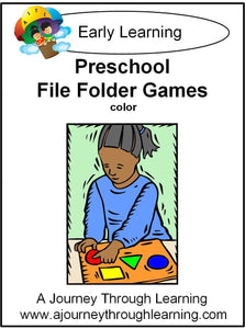 Preschool File Folder Games (Colorful Graphics) - A Journey Through Learning Lapbooks