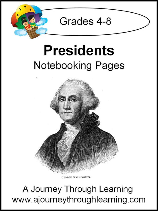 Presidents Notebooking Pages - A Journey Through Learning Lapbooks