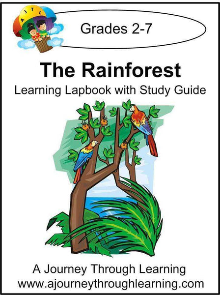 Rainforest Lapbook with Study Guide - A Journey Through Learning Lapbooks