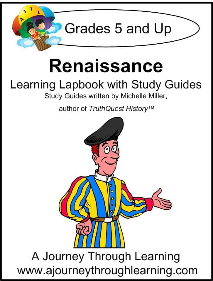 Renaissance Lapbook with Study Guide - A Journey Through Learning Lapbooks