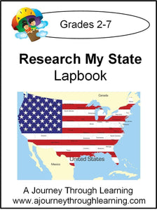 Research My State Lapbooks (you choose state) - A Journey Through Learning Lapbooks