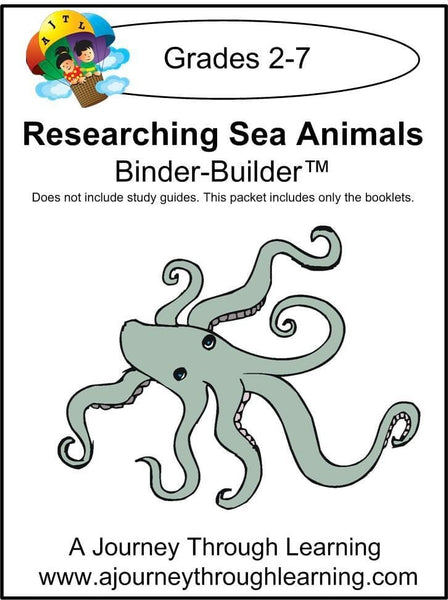 Researching Sea Animals Binder-Builder - A Journey Through Learning Lapbooks