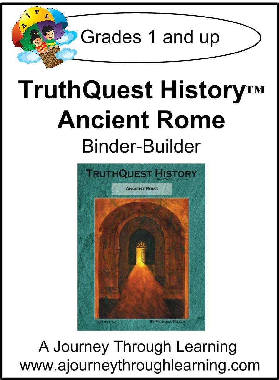 Ancient Rome Supplements Made for TruthQuest History - A Journey Through Learning Lapbooks