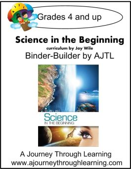 Jay Wile Science in the Beginning Lapbook Binder Builder - A Journey Through Learning Lapbooks