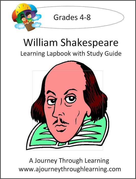 William Shakespeare Lapbook with Study Guide - A Journey Through Learning Lapbooks