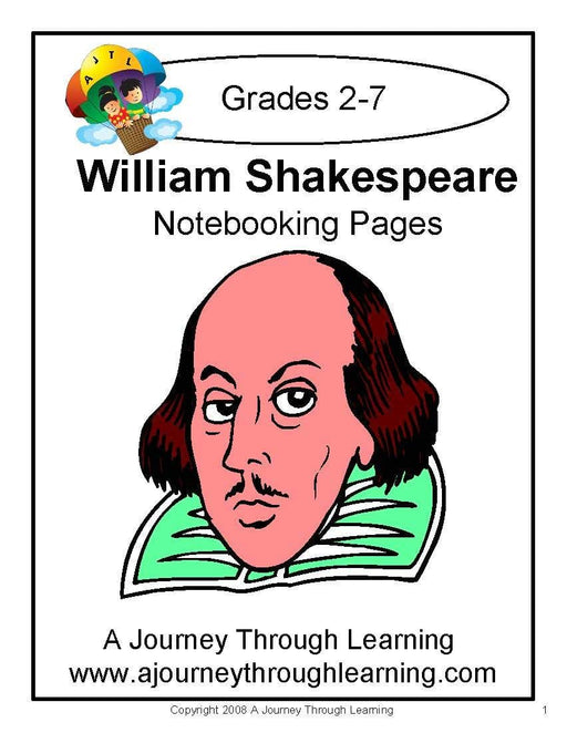William Shakespeare Notebooking Pages | A Journey Through Learning Lapbooks