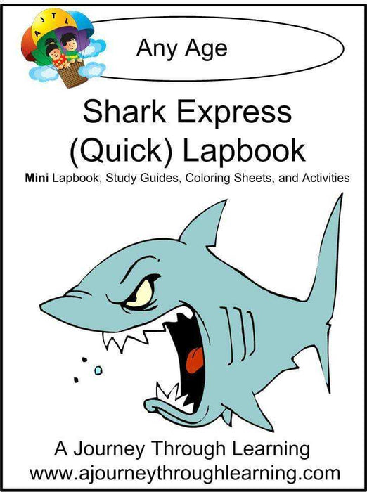 Sharks Express Lapbook - A Journey Through Learning Lapbooks