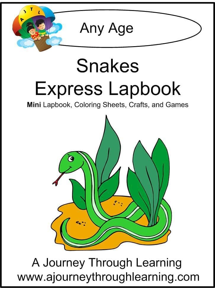 Snakes Express Lapbook - A Journey Through Learning Lapbooks